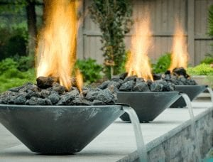 outdoor living fire features