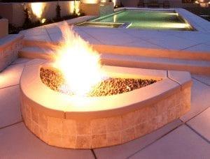 fire feature slider